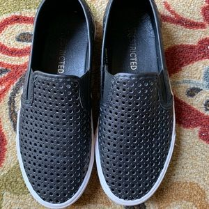 Black Slip on Sneakers, only worn 3 times!